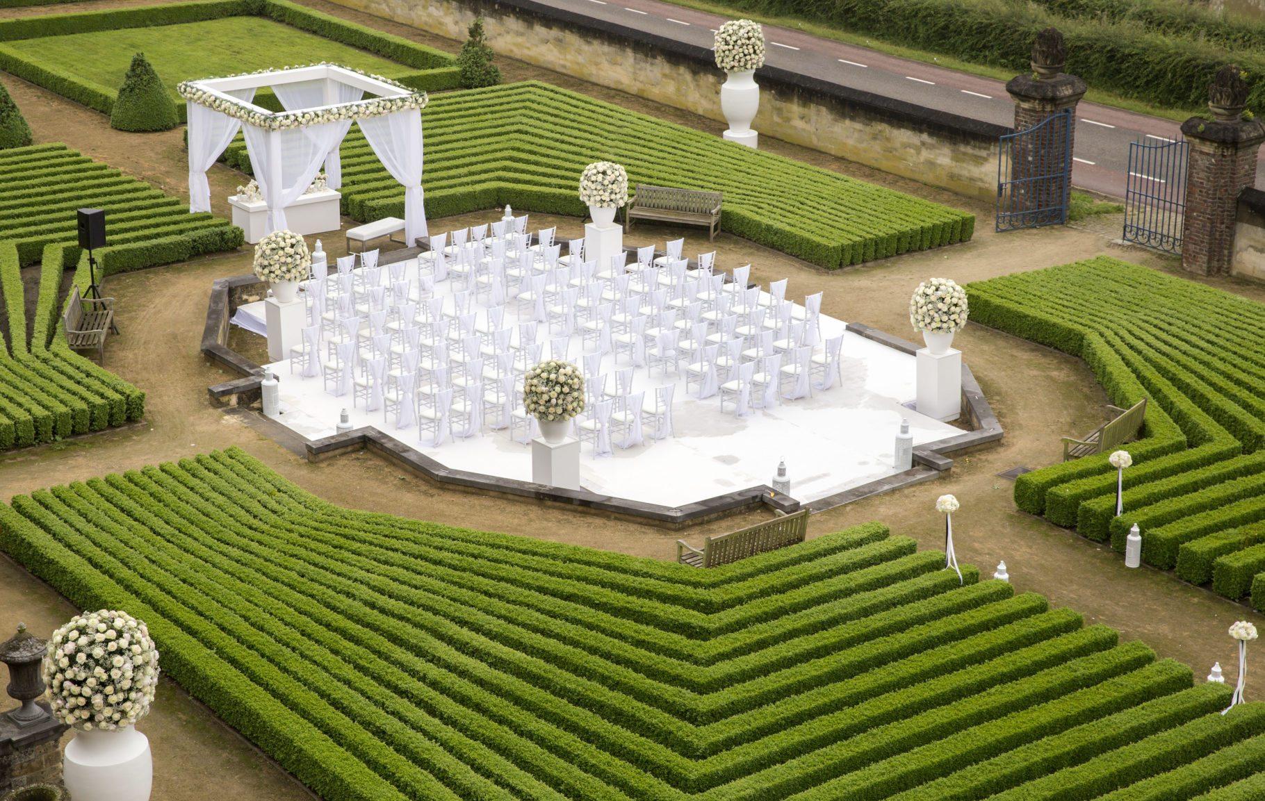 Chateau Neercanne Huwelijk baroktuinen